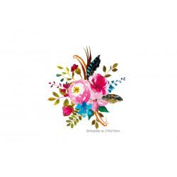 Romantischer Rosen Design-Aufbügler, Print Patch
