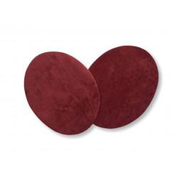 2 Flicken zum Aufbügeln, bordeaux rot, Velour