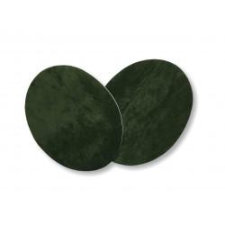 2 Flicken zum Aufbügeln, dunkelgrün, Velour