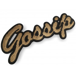 Large sequin patch GOSSIP, big XL design ca.25cm sew on/iron on appliqué
