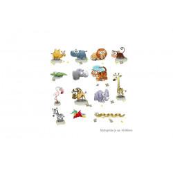 14er Set WILDLIFE KINDERMOTIVE, Transfer Bügelbilder Folie Bügel Sticker
