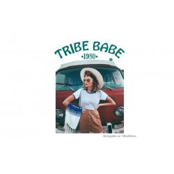 Bügelbild TRIBE BABE 1980, Print Transfer Patch zum aufbügeln