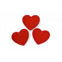 3 Aufbügler Herzen, rot, ca.35mm ❤️