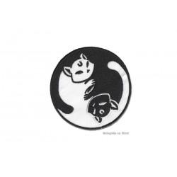 Yin Yang Katzen, Aufnäher zum Aufbügeln