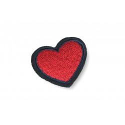 Herzchen Aufbügler mit Rand, ca. 40mm ❤️