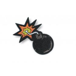 Patch BOMBE, Aufbügler, ca. 75mm, Bügelbild