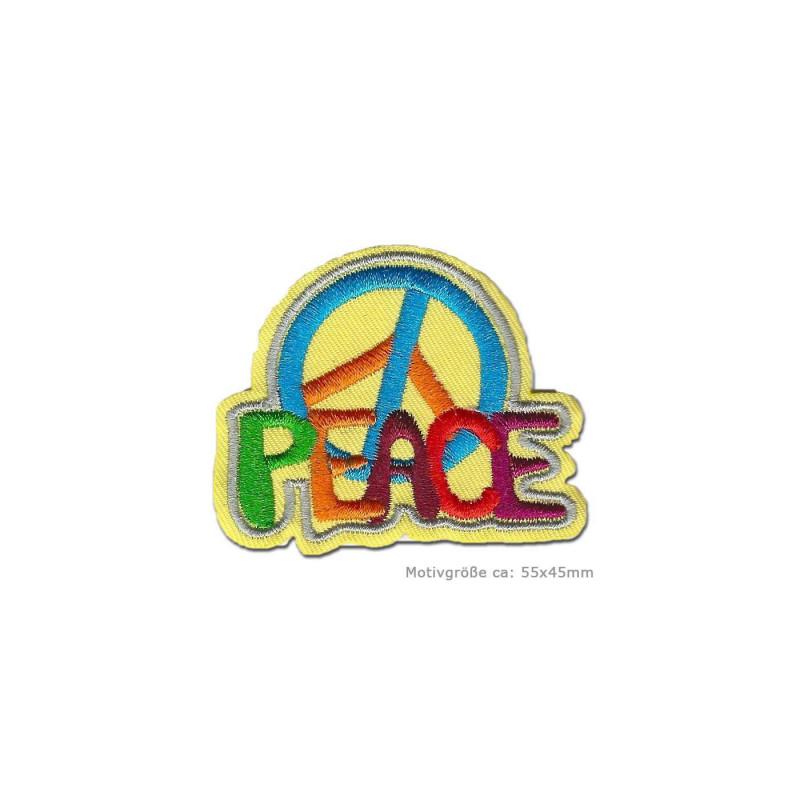 Smiley Regenbogen 7 x 7 cm Patches Aufbügeln Aufnäher // Bügelbild bunt
