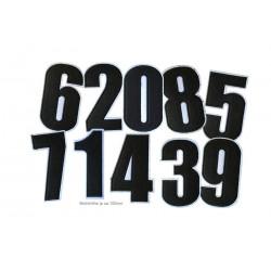 Schwarze Zahlen-Aufbügler, Nummern Ziffern ca.100mm