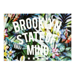Print transfer patch BROOKLYN FORREST, ca.25x17.5cm, iron on, heat press applique