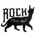ROCKY CAT Print Patch, ca. 29x23cm, Bügelbild, Aufbügler