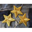 3st. Stern Patches, golden, ca. 55mm, Bügelbild