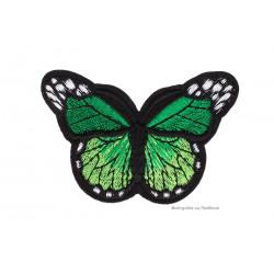 Schmetterling Aufnäher, grün, ~70x50mm