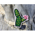 Cute cactus patch - No2, embroidered iron on badge ca.50mm