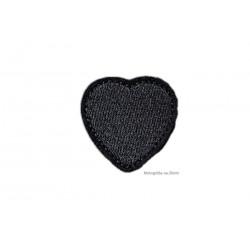 3st. schwarze Herz Aufnäher, ~35mm, Aufbügler