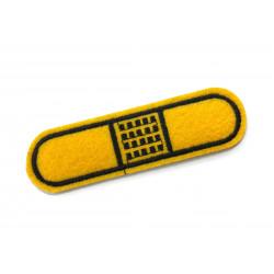 PFLASTER Patch, ca.90mm, gelb Aufbügler Bügelbild