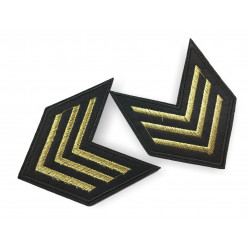 Badge of rank patch, insignia ca.85mm, 2pcs., embroidered, sew on, iron, on