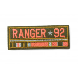 RANGER 92 Patch, ca. 100mm, embroidered, sew on, iron, on