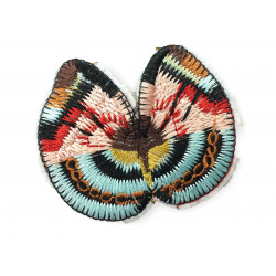 Colourful sew on butterfly patch, ca.75mm badge