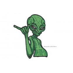 Shaka Alien Aufnäher Hang Loose, groß, ~95x130mm