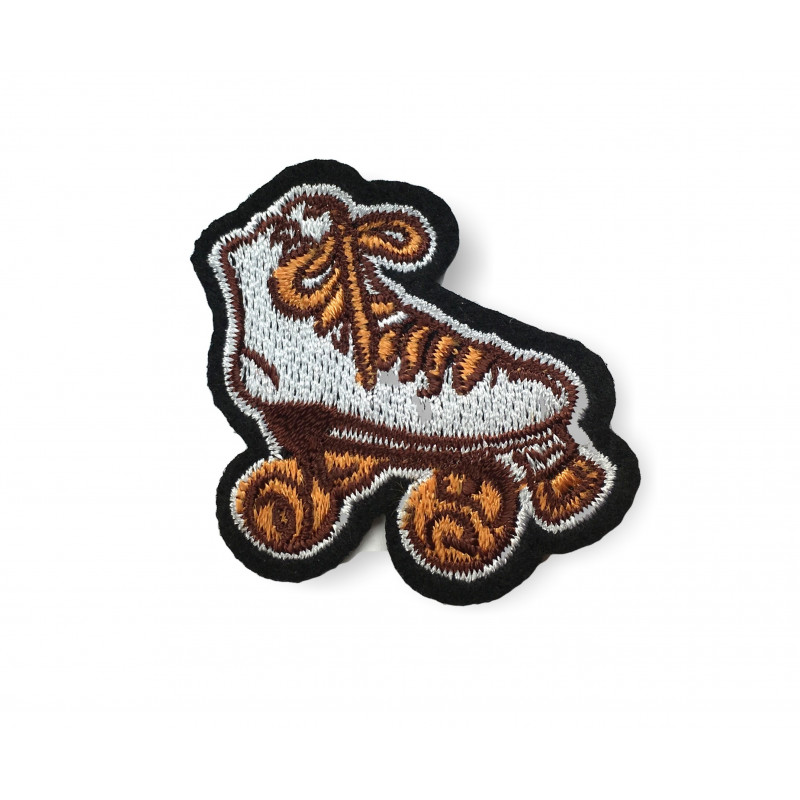 DISCO ROLLER patch, ca.45mm, sew on iron on