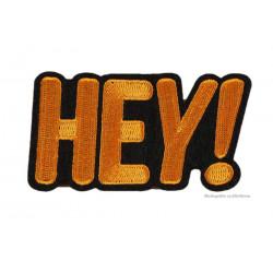HEY! Patch, oranger Aufbügler, ca. 80x45mm