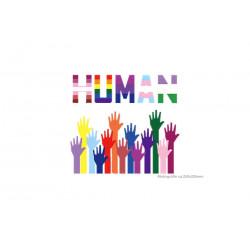 LGBT Patch HUMAN, Tranfer Print Bügelaufkleber, ~250x225mm