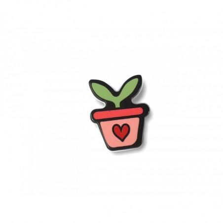 Fashion Pin PLANT, cm.25mm, Pins Anstecknadel