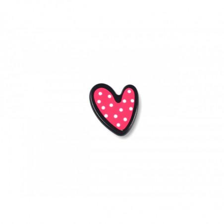 Fashion Pin POLKADOT HEART, cm.20mm, Pins Anstecknadel