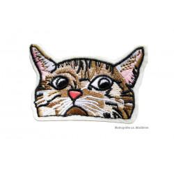 SKEPTICAT Katzen Aufnäher ca.80x55mm