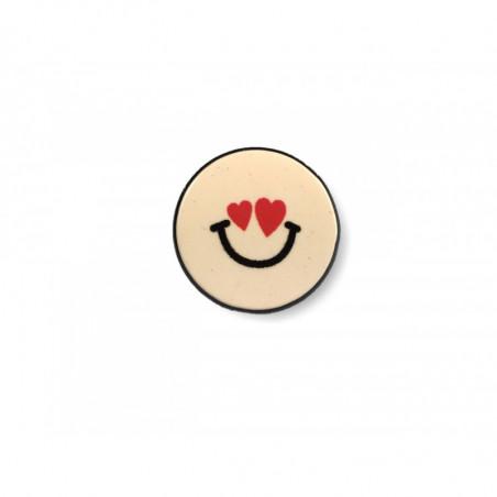Fashion PIN LOVE SMILE, cm.25mm