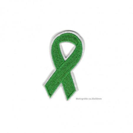 Grüne Soli-Schleife, psychische Erkrankungen, Aufnäher ca.50mm
