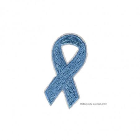 Blaue Soli-Schleife Meinungsfreiheit, Aufnäher ca.50mm