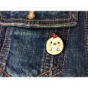 VORLAGE 3er SET FASHION PINS, cm.25mm, Mode Pins Anstecknadel Badge Button