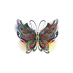 Bügelbild Schmetterling, Print Patch zum aufbügeln ~260x190mm