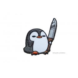 Komischer Vogel PINGU-BUTCH, Bügebild Aufnäher ca.50x60mm