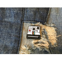 Cool enamel fashion pin INSTANT CAM, cm.20mm