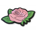 3 charming rose patches, pretty iron on design, ca. 115mm
