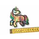 Flipflop unicorn patch, ca.90mm sew on iron on sign