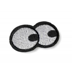 BIG EYES fashion patch, iron on sew on patches, ca.55mm