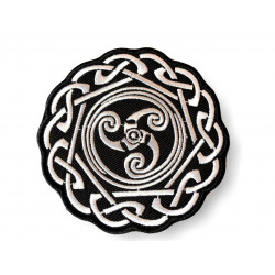 Celtic knot patch, black and white ca. 80mm
