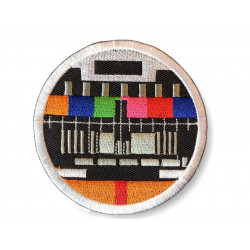 TV test pattern patch, colourful ca. 80mm