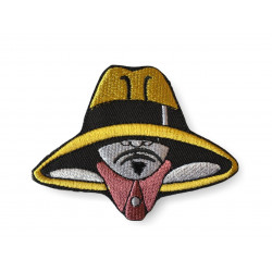 Comical spy Patch, iron on ca. 80mm