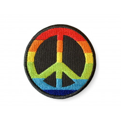 Peace patch with rainbow colors, iron on ca. 50mm