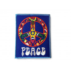 Hippie Peace Patch, Bügelbild im Vintage Poster Design ca.60x80mm