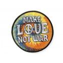 MAKE LOVE NOT WAR Patch, Bügelbild im Vintage Poster Design ca.60x80mm