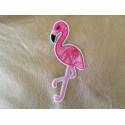 Flamingo bird patch rose/pink, ca.100mm, iron on sew on