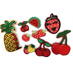 FRUIT PATCHES, 9 bundle of fashion patches, iron on sew on