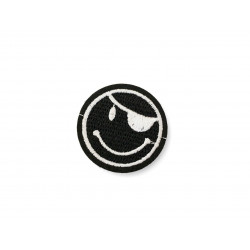 Pirate patch, black and white, ca.45mm iron on /sew on