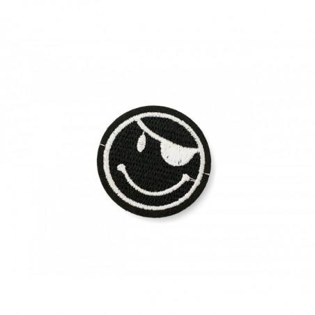 Piraten Patch, schwarz-weiß, ca. 45mm