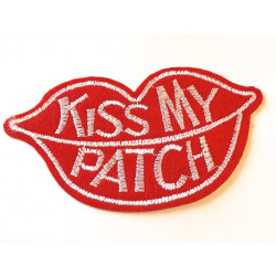 Patch KISS MY PATCH, Aufbügler, ca. 80mm